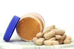 Peanut butter jar Stock Photography