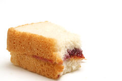 Peanut butter and jelly. Isolated photo of peanut butter and jelly on white Stock Images
