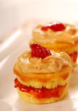 Peanut butter and jelly cupcakes Royalty Free Stock Photo