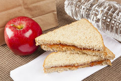 Peanut Butter and Jelly Sack Lunch Stock Photography