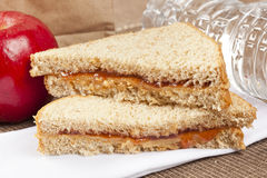Peanut Butter and Jelly Sack Lunch Royalty Free Stock Photography