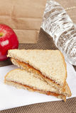 Peanut Butter and Jelly Sack Lunch Royalty Free Stock Photos