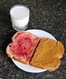 Peanut Butter Jelly Sandwich Royalty Free Stock Image