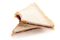 Peanut butter and jelly sandwich. Photo shot of peanut butter and jelly sandwich royalty free stock images