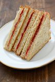 Peanut butter & jelly sandwich royalty free stock photos