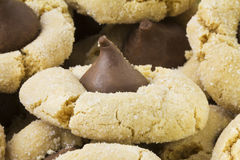 Peanut butter kiss cookies Stock Images