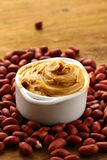 Peanut butter and nuts Royalty Free Stock Photo