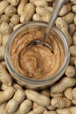 Peanut butter and peanuts Royalty Free Stock Photo