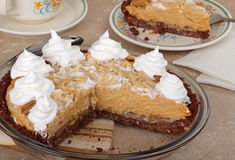 Peanut Butter Pie Stock Photo