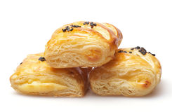 Peanut butter puff pastry Stock Image