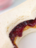 Peanut Butter And Raspberry Jelly Sandwich royalty free stock photos