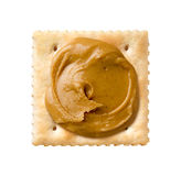 Peanut Butter on a Saltine Cracker Royalty Free Stock Image