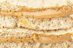 A peanut butter sandwhich Stock Photos