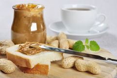 Peanut butter sandwhich Stock Photography