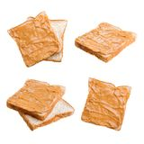 peanut butter sandwich and bread Royalty Free Stock Photo