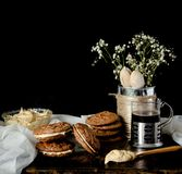 Peanut Butter Sandwich Cookies Stock Photo