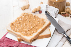 Peanut Butter Sandwich Stock Images