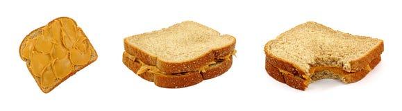 Peanut Butter Sandwiches Stock Photos