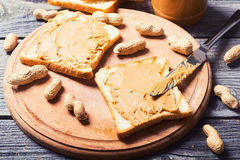 Peanut butter sandwiches Royalty Free Stock Photo