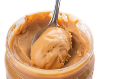 Peanut Butter With Small Spoon II royalty free stock photos