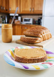Peanut butter snack stock photography