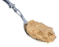 Peanut Butter on a spoon Royalty Free Stock Images