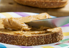 Peanut butter spread Royalty Free Stock Photos