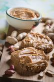Peanut butter spread. Used as breakfast and snack Royalty Free Stock Photo
