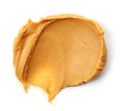 Peanut butter spread  on white Royalty Free Stock Photos