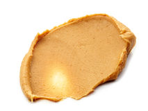 Peanut butter spread  on white Royalty Free Stock Image