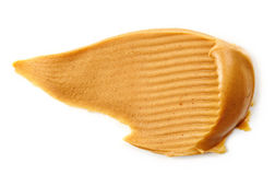 Peanut butter spread  on white Stock Images