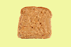 Peanut butter toast Stock Photography