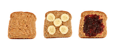 Peanut Butter Toast Royalty Free Stock Photography