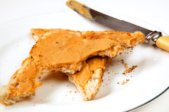 Peanut Butter Toast Stock Photo