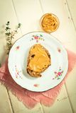 Peanut butter toast Stock Photos