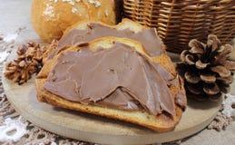 Peanut butter on toast Stock Image