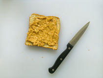 Peanut butter toast Royalty Free Stock Image