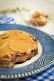 Peanut butter toast Stock Photo