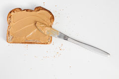 Peanut butter toats Stock Photography