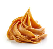 Peanut butter. On white background Royalty Free Stock Image