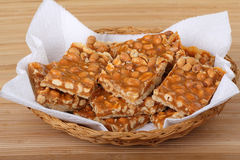Peanut Butterscotch Bars Stock Photo