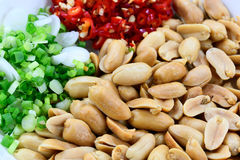 Peanut with Chilli and Vegetable Stock Photography