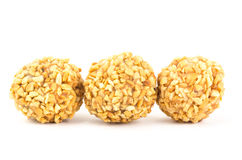Peanut chocolate ball Stock Images