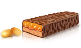 Peanut Chocolate Bar. Chocolate and candy bars that can be used in the design drawings Stock Image