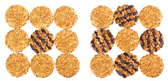 Peanut and chocolate chip cookies Stock Images