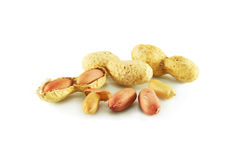 Peanut closeup. Peanuts, nuts, closeup, cleaned and with the skin Royalty Free Stock Photography