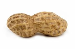 Peanut Closeup. Closeup image of a peanut royalty free stock image