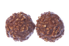 Peanut Coated Chocolate Balls Isolated Royalty Free Stock Photos