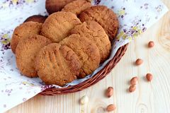 Peanut cookies Royalty Free Stock Photos