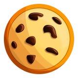 Peanut cookies icon, cartoon style stock illustration